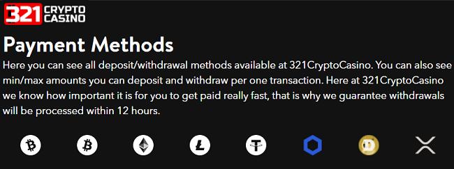 321 crypto casino voegt nieuwe crypto betaatmethodes toe