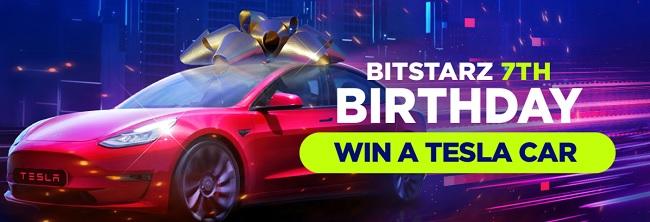 Win een Tesla 3 bij Bitstarz